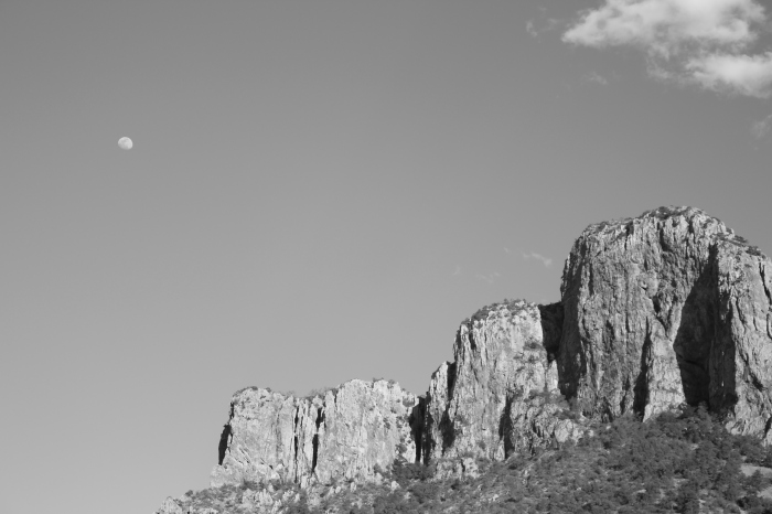 the moon over big bend